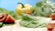 Pouring water on lettuce video