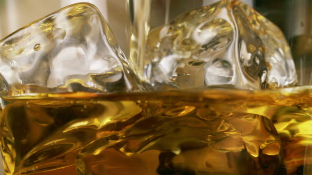 Pouring whiskey series video
