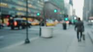 Pov walking on street sidewalk in New York City video