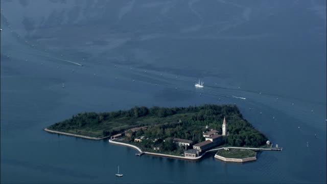 Poveglia Island - Aerial View - Veneto, Venice, Italy video