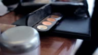 powder box on table video