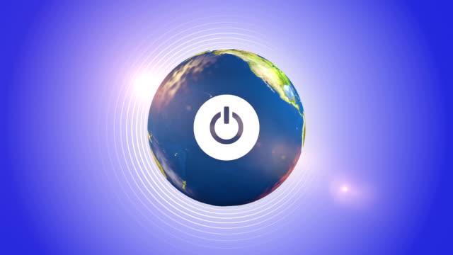 Power Button On The Orbiting Globe video