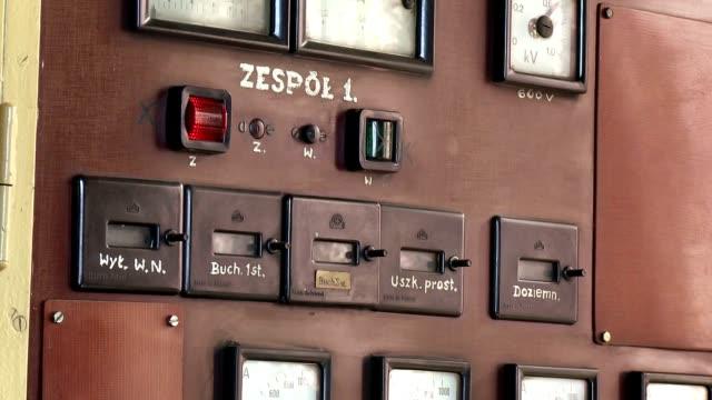 Power distribution center retro - closeup video