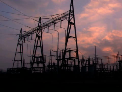 Power Lines and Substation video