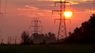 Power Lines At Dawn video