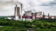 AERIAL: Power plant burning fossil fuel video