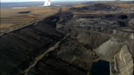 Power Plant - Coal-fired Power Station and Open Mine - Aerial View - Wyoming, Lincoln County, United States video