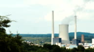 Power plant in valley video