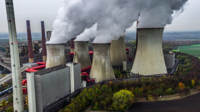 Power Station - Aerial shot video