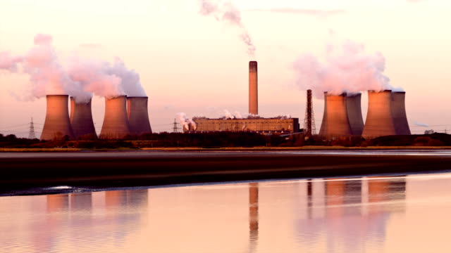 Power Station at sunset video