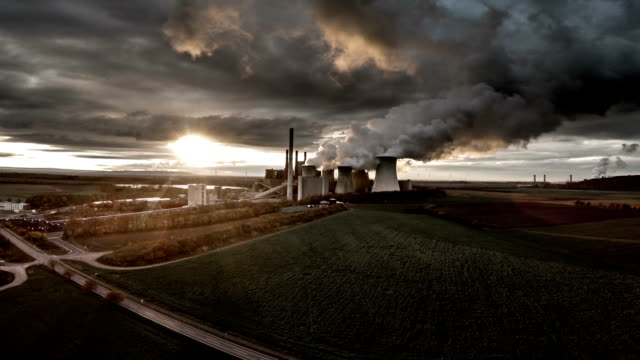 AERIAL : Power Station in backlight video