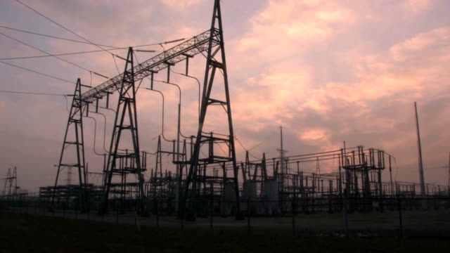 Power Substation Time Lapse video