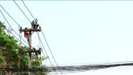 Powerline Workers , Chiangmai Thailand video