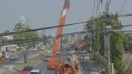 Powerline Workers. video
