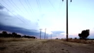 Powerlines and an epic storm Timelapse video