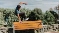 Practicing parkour in the city video