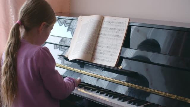 Practicing the piano video