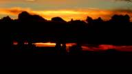 Prague and colourful dawn video