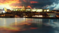 Prague castle and Charles bridge - Time lapse video