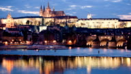 Prague castle reflection video