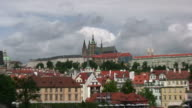 HD: Prague Castle, Zoom In from Charles Bridge video