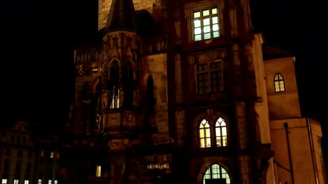 Prague Orloj Astronomical Clock At Night video