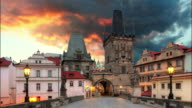 Prague View from Charles Bridge - Time lapse video