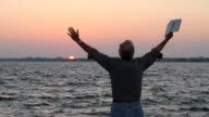 Praise With Bible Sunset video