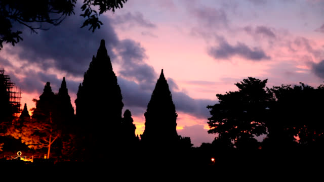 Prambanan Temple dusk video