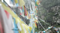 Pray flag at windy day, Tibet video
