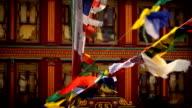 Prayer flags at the Boudhanath stupa Kathmandu, Nepal video