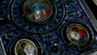 Prayer on table in Church video