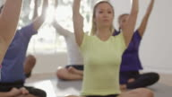 Prayer Position in Yoga Class video