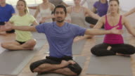 Prayer Position in Yoga Class video