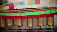 Prayer Wheels and Flags in Tibet video