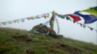Prayer-flags in the wind video