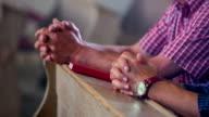 Praying in church video
