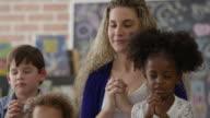 Praying in Sunday School video