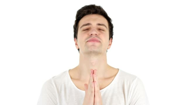Praying Man to God for Help video