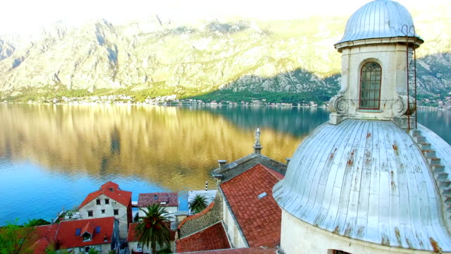 Prcanj, Montenegro The Bay of Kotor. Church of the Nativity of t video