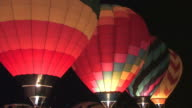 Pre-Dawn Hot Air Balloons Glowing video