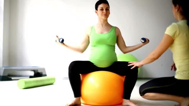 Pregnancy exercise. video