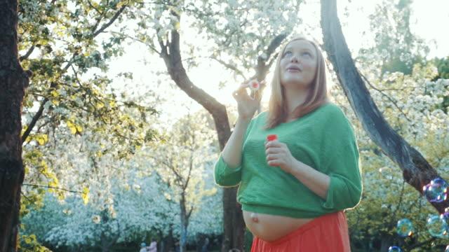Pregnant Woman Enjoying the Spring Day video