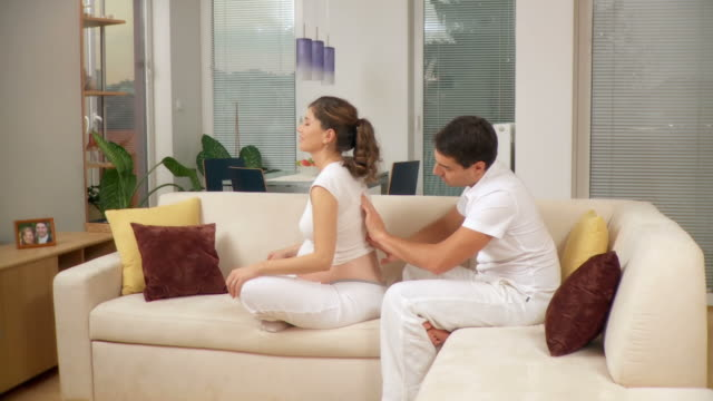 HD DOLLY: Pregnant Woman Getting A Massage video