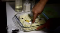 Preparation of cheese casseroles at home. video
