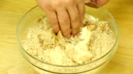Preparation of dough from the bread crumbs video
