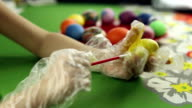 Preparation of easter eggs, the feast of the passover video