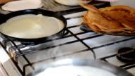 Preparation of pancakes. video