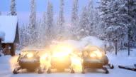 Preparation of Snowmobile video