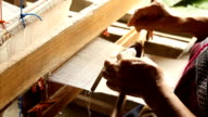 Prepare for weaving silk threads video